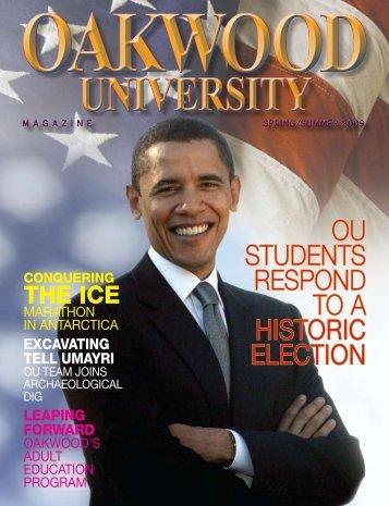 Oakwood University Magazine Spring/Summer 2009
