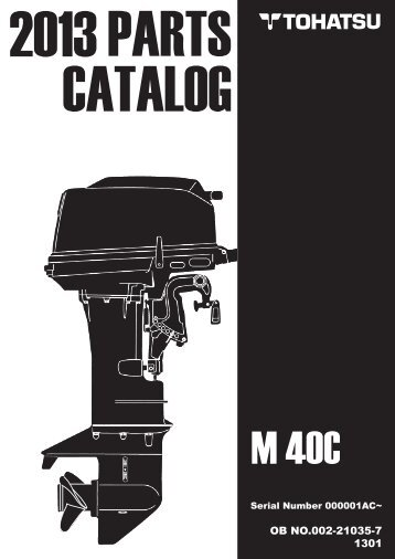 PARTS CATALOG M 40C - Tohatsu
