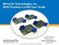 Mirrorcle Technologies, Inc. BDQ PicoAmp 4.x-050 User Guide