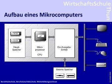 Aufbau eines Mikrocomputers
