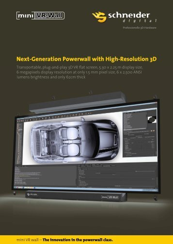 Next-Generation Powerwall with High-Resolution 3D - mini VR-Wall
