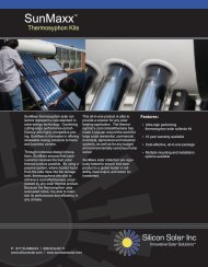 Thermosyphon Kits - SunMaxx Solar
