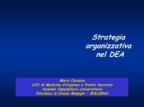 strategia organizzativa nel dea - Anmco