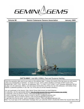 Issue #88, Jan 2005 - Gemini Gems