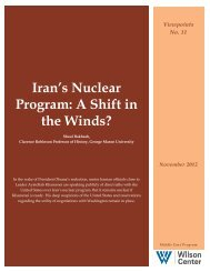 Iran's Nuclear Program: A Shift in the Winds? - Woodrow Wilson ...