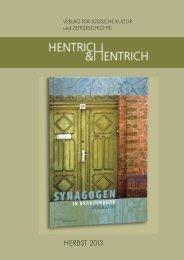 Katalog Herbst 2013 - Verlag Hentrich & Hentrich