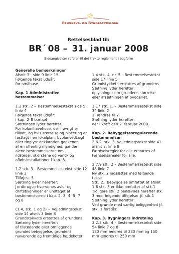 Rettelsesblad - bog.indd - Byggecentrum