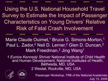 Using the U.S. National Household Travel Survey to Estimate the ...