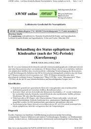 Behandlung des Status epilepticus im Kindesalter (nach ... - Reanitrain