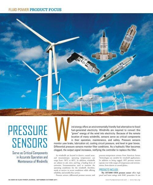 Pressure sensors - American Sensor Technologies