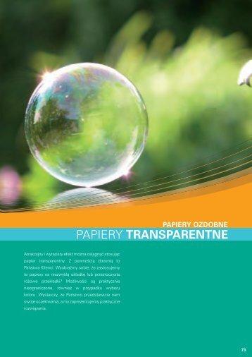 Papiery transparentne (PDF 845 kB) - Europapier
