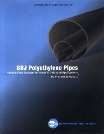 PE Pipes & Fittings - BBJ PIPE Industries (Pvt)Ltd