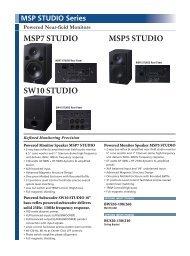 MSP7 STUDIO MSP5 STUDIO SW10 STUDIO - J&H Licht en Geluid