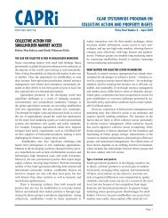 Collective Action for Smallholder Market Access - CAPRi - cgiar