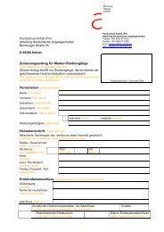 Zulassungsantrag - Dessau Department of Design - Hochschule ...