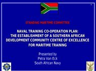 Naval Training Co-operation Plan - Presentation - South African Navy
