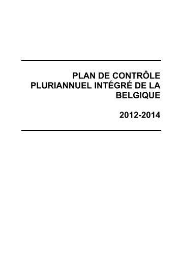 MANCP de la Belgique (2012-2014) - Favv