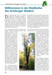 in der Waldkultur (Veranstaltungskalender Arnsberg 10/2011, S.58-59)