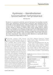Kystinoosi – täsmähoitoinen lysosomaalinen ... - Terveyskirjasto