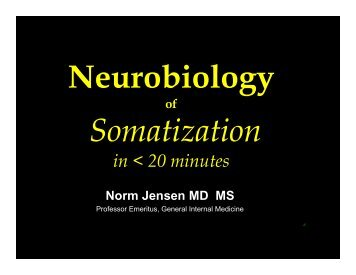 Neurobiology of Somatization