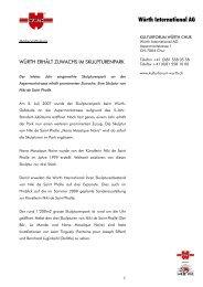 Download Medienmitteilung - Würth International AG
