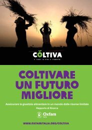 Coltivare un futuro migliore - Oxfam Italia