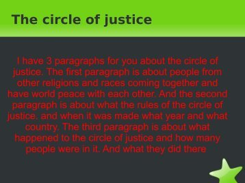 The circle of justice