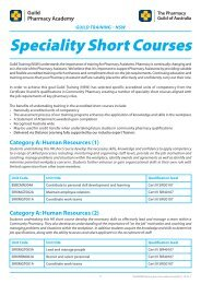 Specialty Short Course Flyer - The Guild
