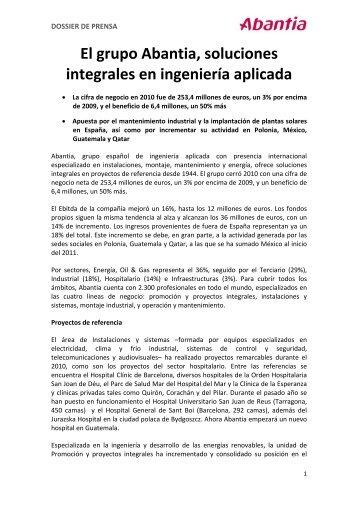 Dossier de prensa 2011 - Abantia