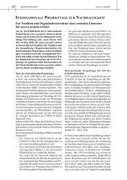 INTERNATIONALE PROJEKTTAGE ZUR NACHHALTIGKEIT Zur ...