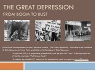 THE GREAT DEPRESSION - Database of K-12 Resources