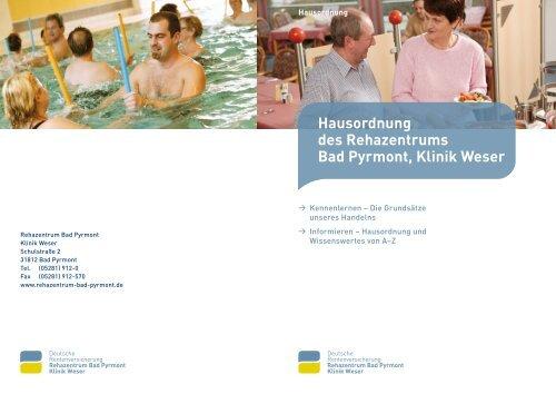 Hausordnung und Informationen von A bis Z - Klinik Weser