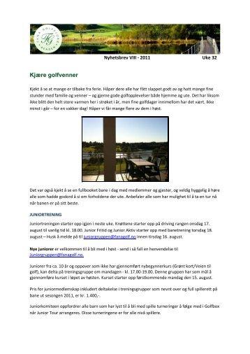 Nr VIII - Uke 32 - Fana Golfklubb