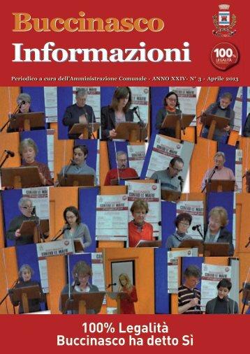 Aprile 2013 - Comune di Buccinasco