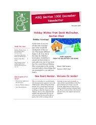ASQ Section 1302 Decmeber Newsletter - ASQ-1302