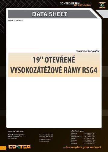 "data sheet 19"" otevřené vysokozátěžové rámy rsg4 - Conteg"
