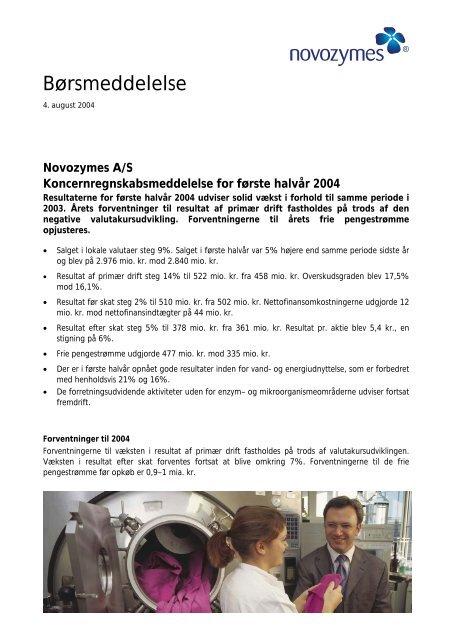 Læs den fulde børsmeddelelse i pdf-format - Novozymes