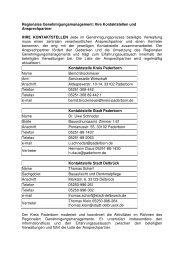 Regionales Genehmigungsmanagement2012 - Kreis Paderborn