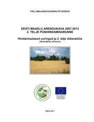 2010. aasta püsihindamisaruanne - Põllumajandusuuringute ...
