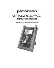 VS-1 Virtual StrobeJ Tuner Instruction Manual - Peterson Tuners