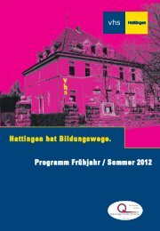 Hattingen hat Bildungswege. Programm Frühjahr ... - Die Löffelboten
