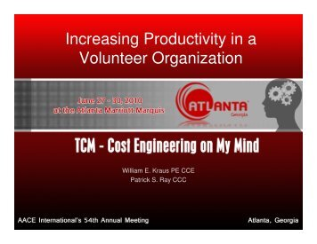 Increasing Productivity in a Volunteer Organization
