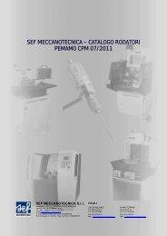 CATALOGO CPM 07 2011 RODATORI - SEF meccanotecnica
