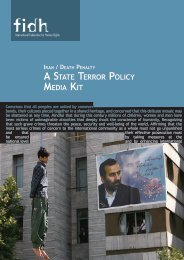 A STATE TERROR POLICY MEDIA KIT - FIDH