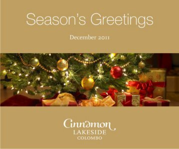 Download Christmas Brochure - Cinnamon Hotels & Resorts