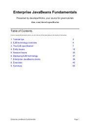 Enterprise JavaBeans Fundamentals - Free Java Guide