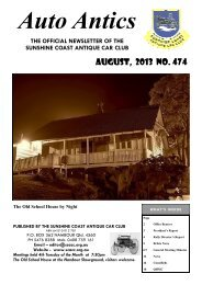 August, 2013 NO. 474 - Sunshine Coast Antique Car Club