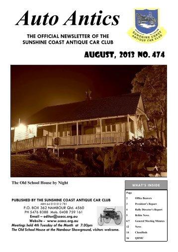 August, 2013 NO. 474 - Sunshine Coast Antique Car Club