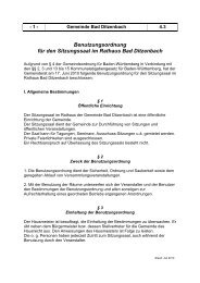 Benutzungsordnung Sitzungssaal - Bad Ditzenbach