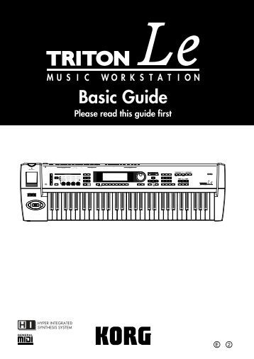 TRITON Le Basic guide - Korg